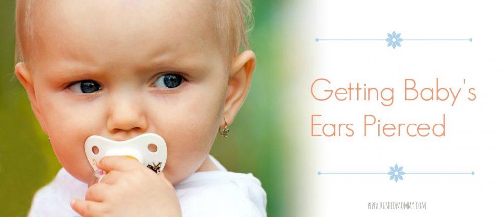 getting baby's ears pierced