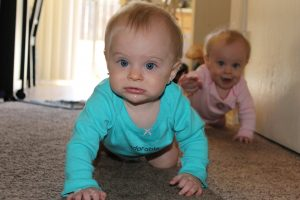 Baby Milestones: Twins and Crawling and Sitting