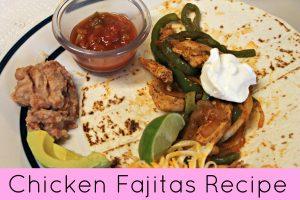 chicken recipe fajitas