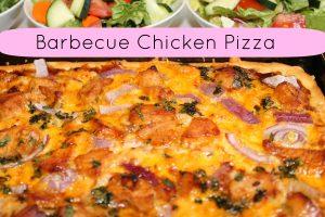Homemade pizza barbecue chicken recipe