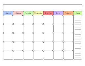 Free Printable Calendar Template