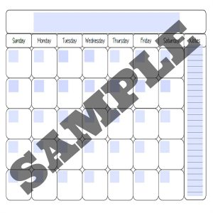 calendar fillable sample