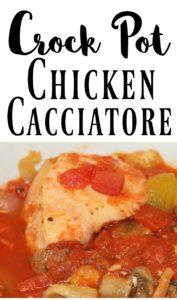 Easy dinner recipe in the crock pot - chicken cacciatore