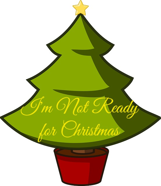 I'm not ready for Christmas
