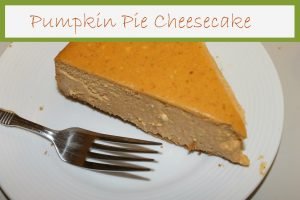 slice of pumpkin pie cheesecake