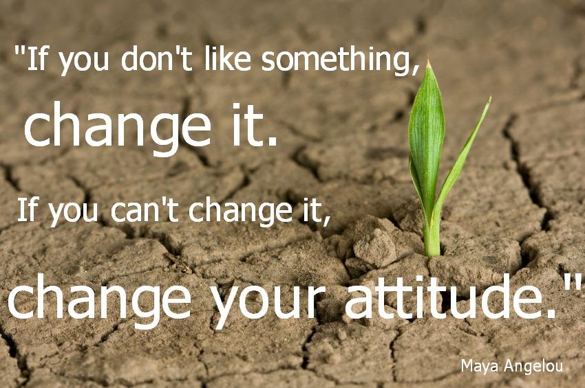 Maya Angelou if you don't like something change it