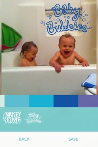 twins in the tub