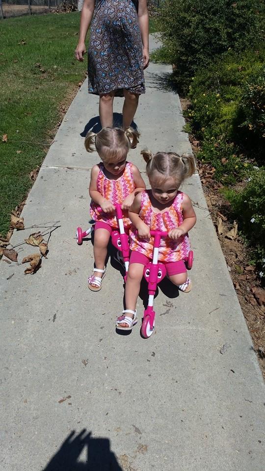 twins birthday bikes