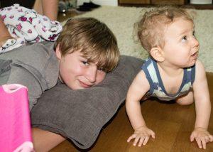 widely spaced siblings