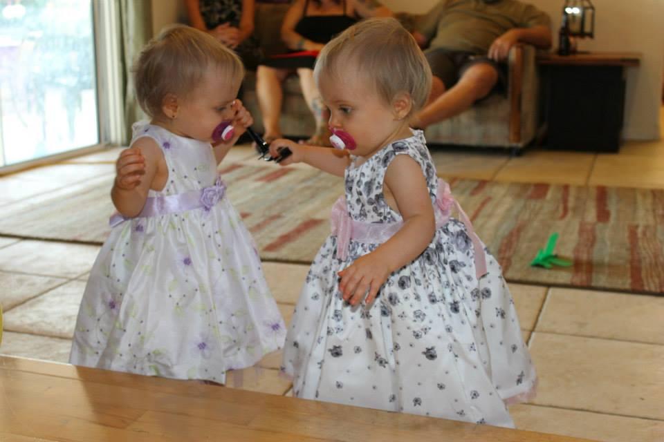 dressing twins