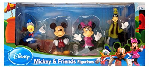 mickey and friends figurines perfect for a Disney themed DIY Thanksgiving kids table decor!