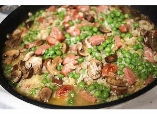 one-pan kielbasa and rice