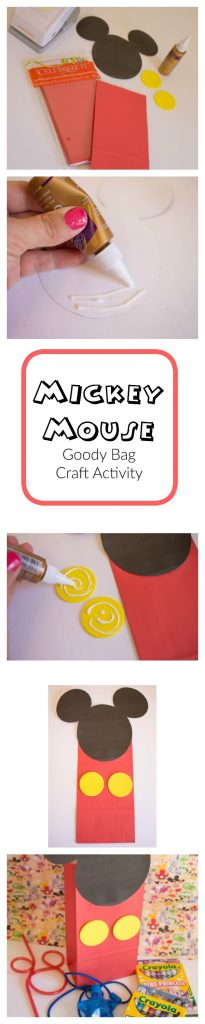 Mickey Craft Bag Activity for a playdate or a party for Preschoolers