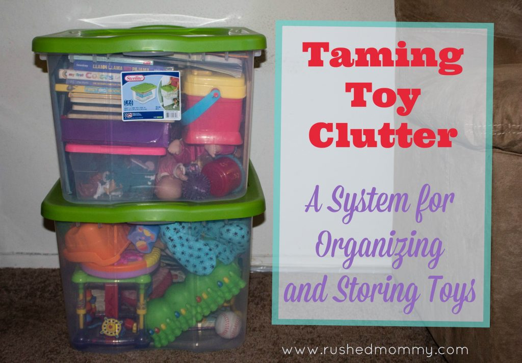 Organizing and storing toys