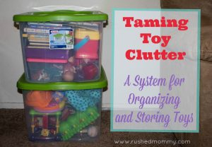 Taming Clutter with a Toy Storage System