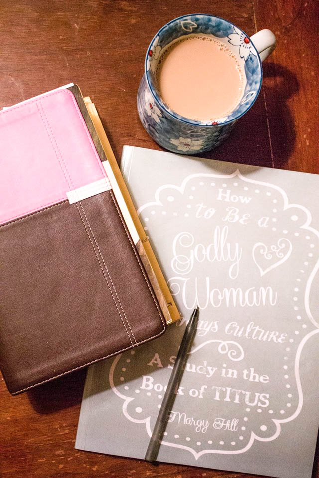 one of the little things I can't live without is my morning quiet time