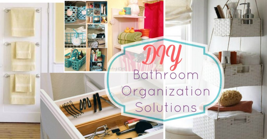 simple cheap and easy small space DIY bathroom organization and storage solutions
