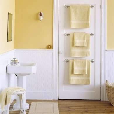 fun project and bathroom organization solutions for storage in a small space bathroom