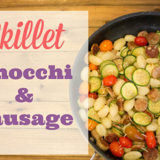 One of my family's favorite easy Italian recipes that you can make for dinner tonight! This recipe combines classic gnocchi, sausage, and vegetables in a simple meal. A quick sprinkling of parmesan cheese gives it a taste of Italy! You could easily swap out the meat for chicken or meatballs, or leave it out entirely for a nice vegetarian dish.