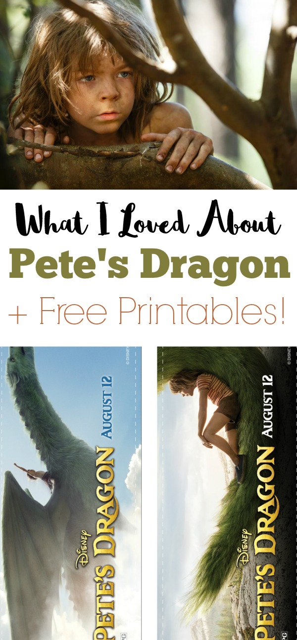 petes dragon 2016 movie free printables and review