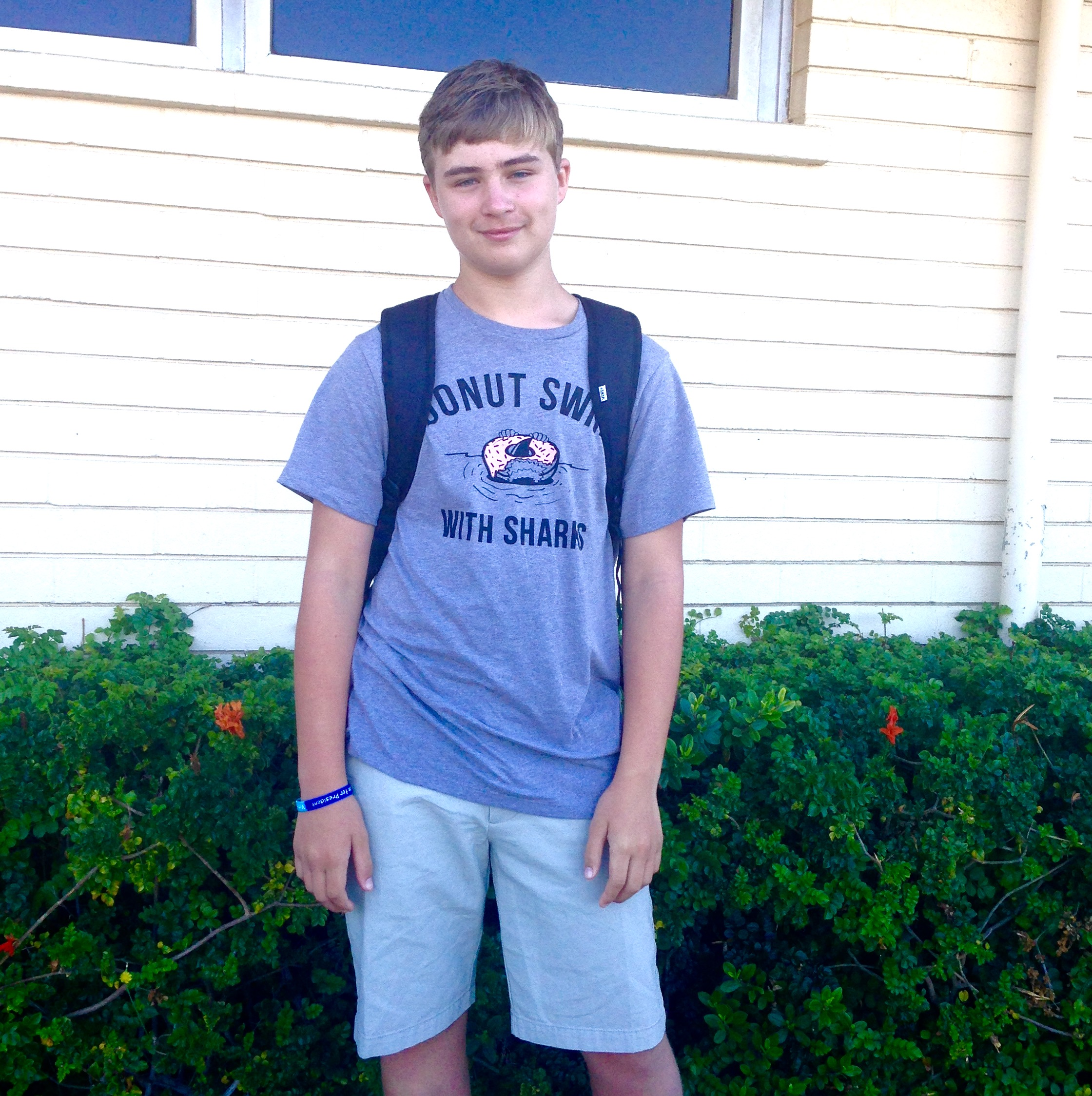 my 13-year-old's first day back to school in 8th grade!!!