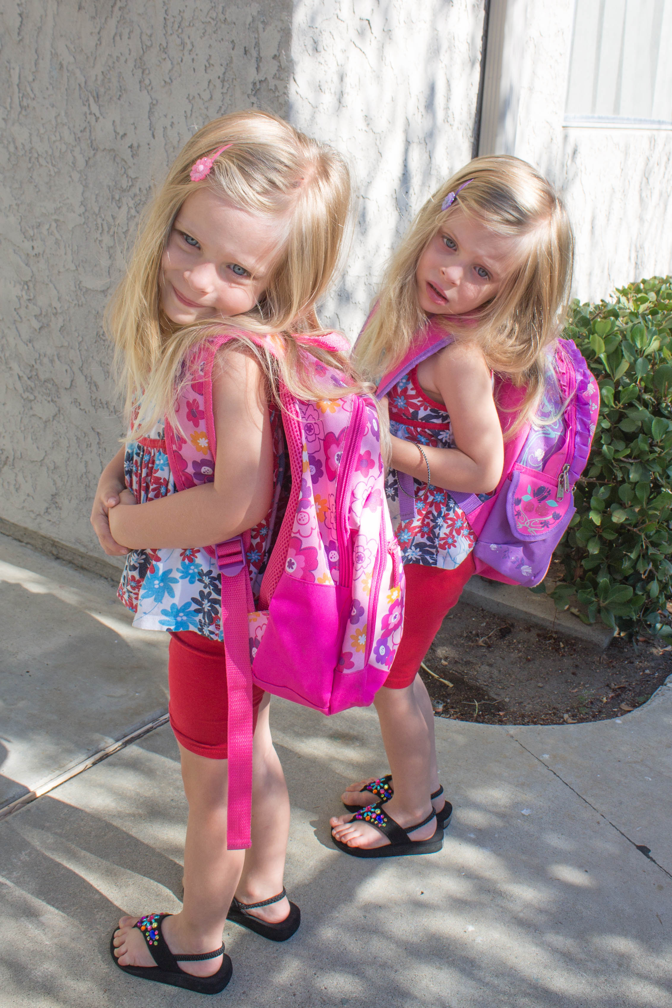 The twins still have 2 years until they start kindergarten. They wish they could go back to school with us though!