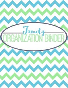 """I'm offering this family binder cover on the blog today! Several of my posts feature free organizer ideas, so be sure and check out the """"DIY"""" section under my """"Family""""categories tab in the blog header!"""