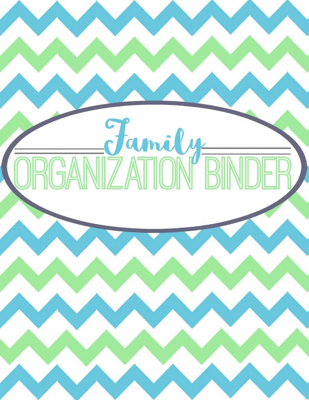 organization family binder cover page