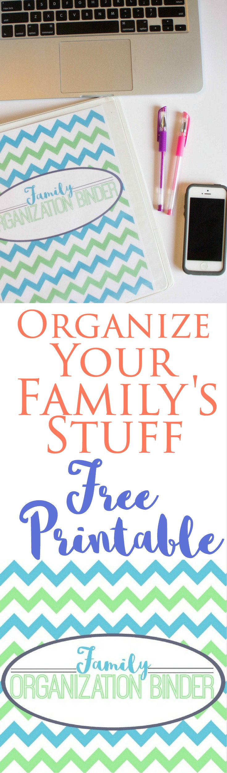 "I'm offering this family binder cover on the blog today! Several of my posts feature free organizer ideas, so be sure and check out the ""DIY"" section under my ""Family""categories tab in the blog header!"