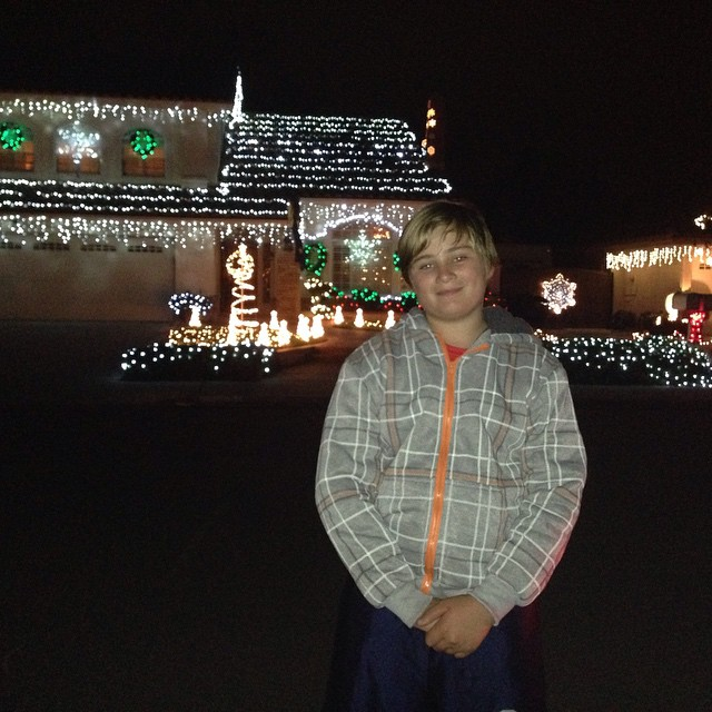 the year we went to candy cane lane for a christmas lights scavenger hunt