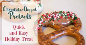 DIY christmas gift idea: Chocolate dipped treat bags
