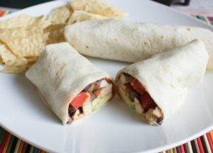 Black Bean and Chicken Burritos