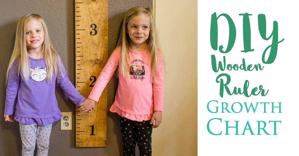 DIY wood ruler growth chart tutorial