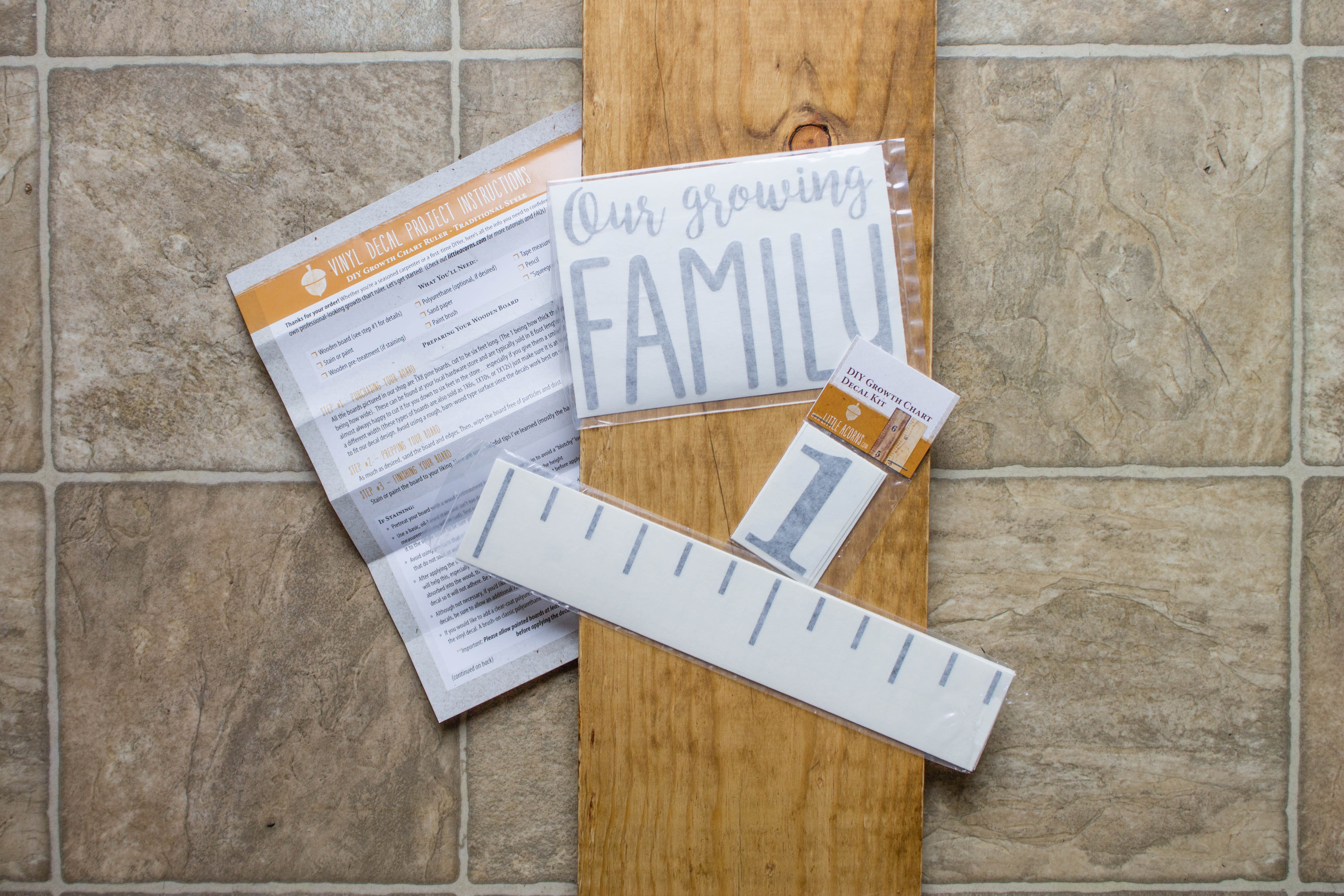 Wooden Ruler DIY Growth Chart for Kids