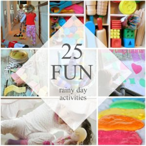 25 Fun Things to do on a Rainy Day with Kids