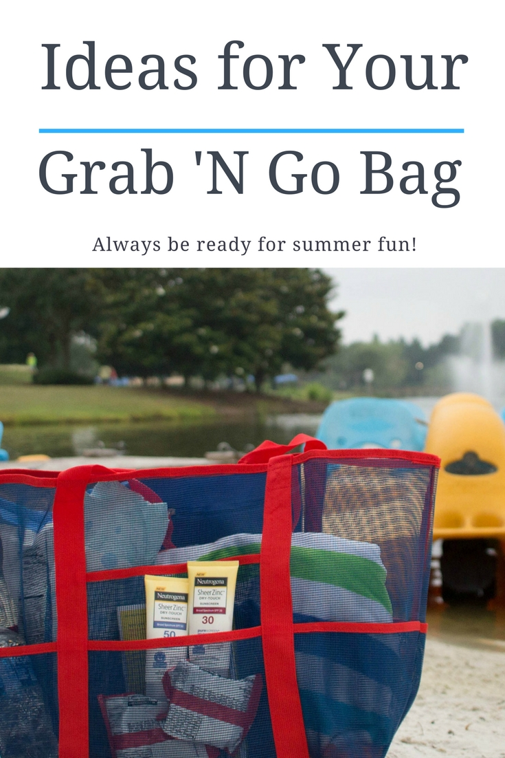 Ideas for a grab and go summer fun bag - always be ready for an adventure!