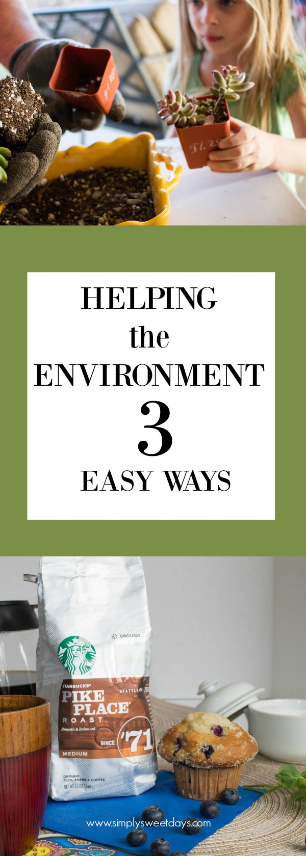 Want to help your kids take care of the environment but there's not enough time? Check out these 3 easy ways to help the environment. They're budget-friendly too!