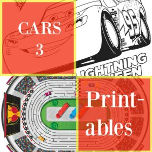Growing up on Disney Cars + Free Coloring Sheets