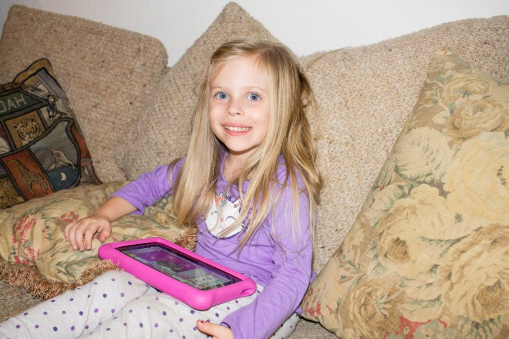 Emily loves the apps on her kindle fire kids edition!