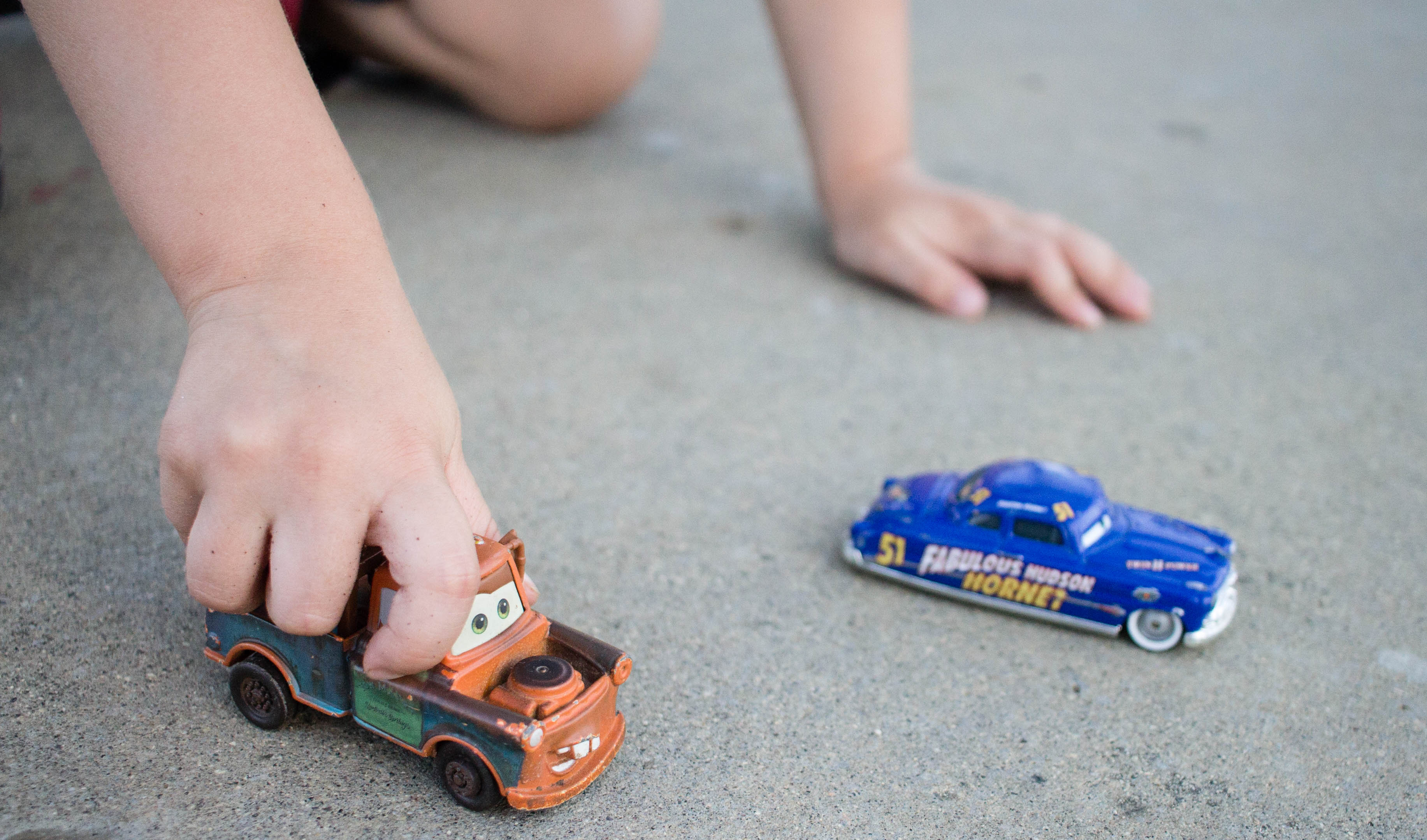 Playing with our favorite Disney CARS characters!