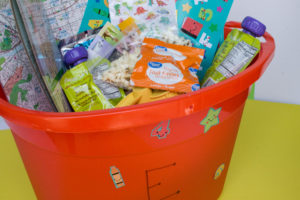 Make a Busy Bin for a Road Trip with Kids
