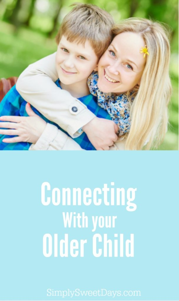 Parents of teens know the challenge of having a good relationship with your kids. Here are some tips for moms who have older children, that may help you get ideas for connecting with them.