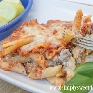 be sure and add a side ov veggies to your meal when you make cheesy pasta casserole
