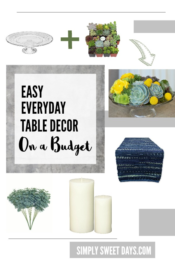 Dress up your Dining Room Easy Everyday Table Decor on a  : Easy everyday table decor and centerpiece ideas for when youre on a budget from www.simplysweetdays.com size 600 x 900 jpeg 97kB