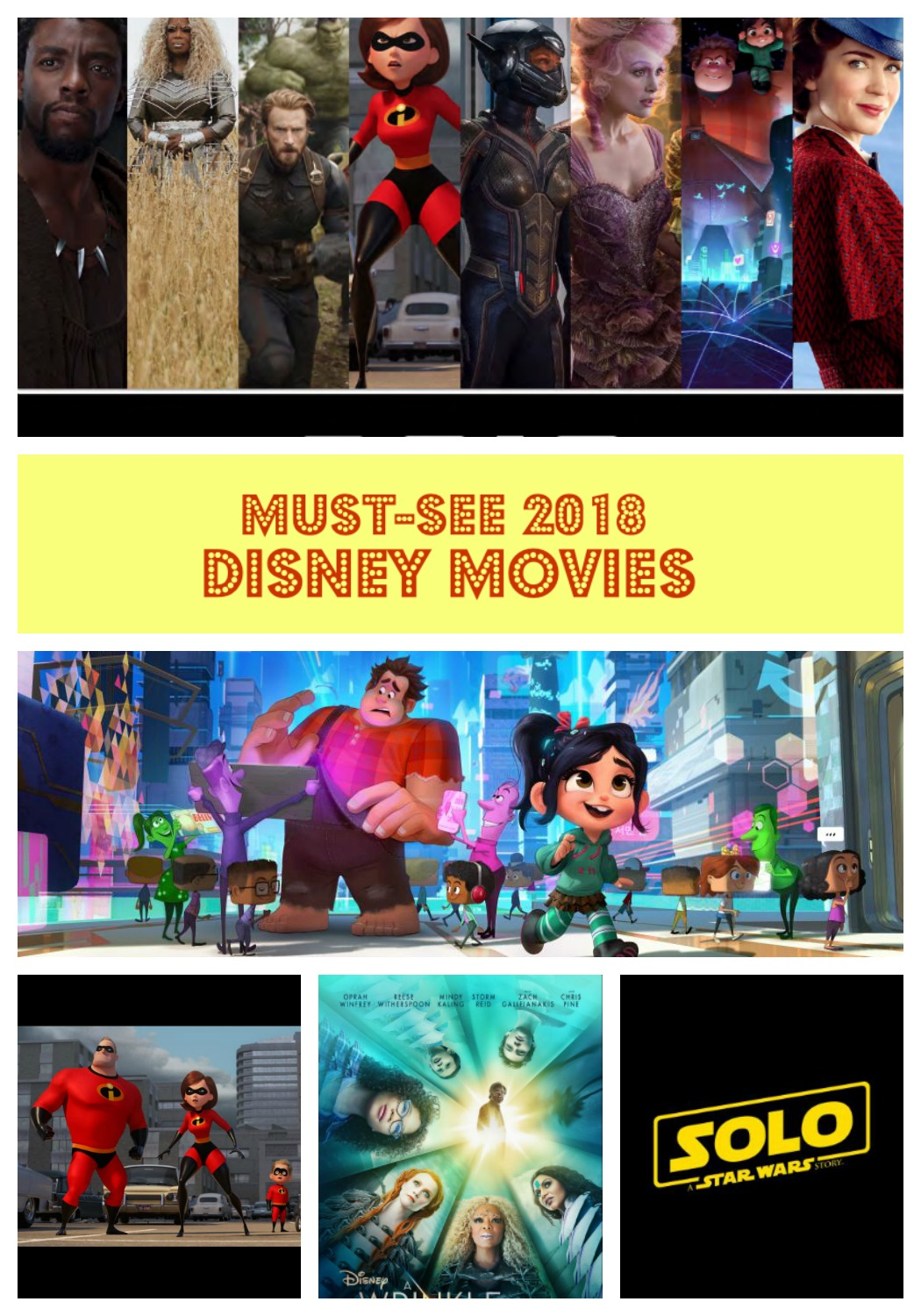 The comprehensive list of all the upcoming Disney Movies in 2018. Check back for updated trailers! #DisneySMMC