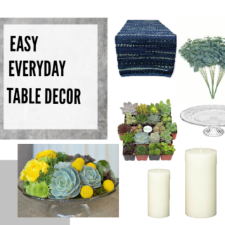 simple and easy table decor for a budget