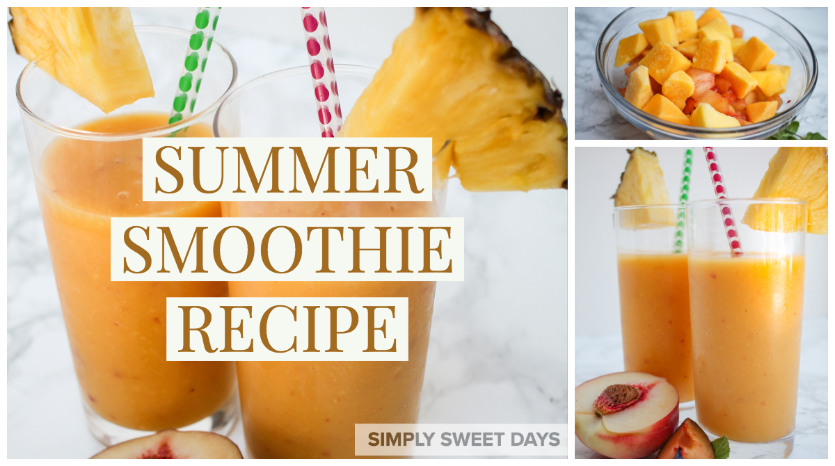This refreshing summer smoothie hits the spot on hot summer afternoons. You can make it from fresh or frozen fruit and enjoy this drink year-round!