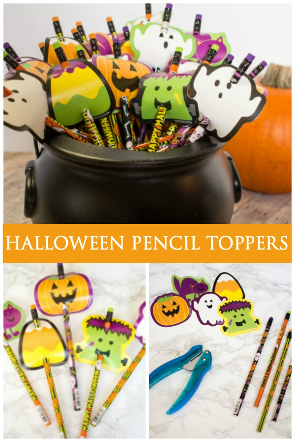 These cute little Halloween Pencil Treats are a great candy-free option you can pass out on the big night or take to school. Your kids will love helping you make this fun craft!