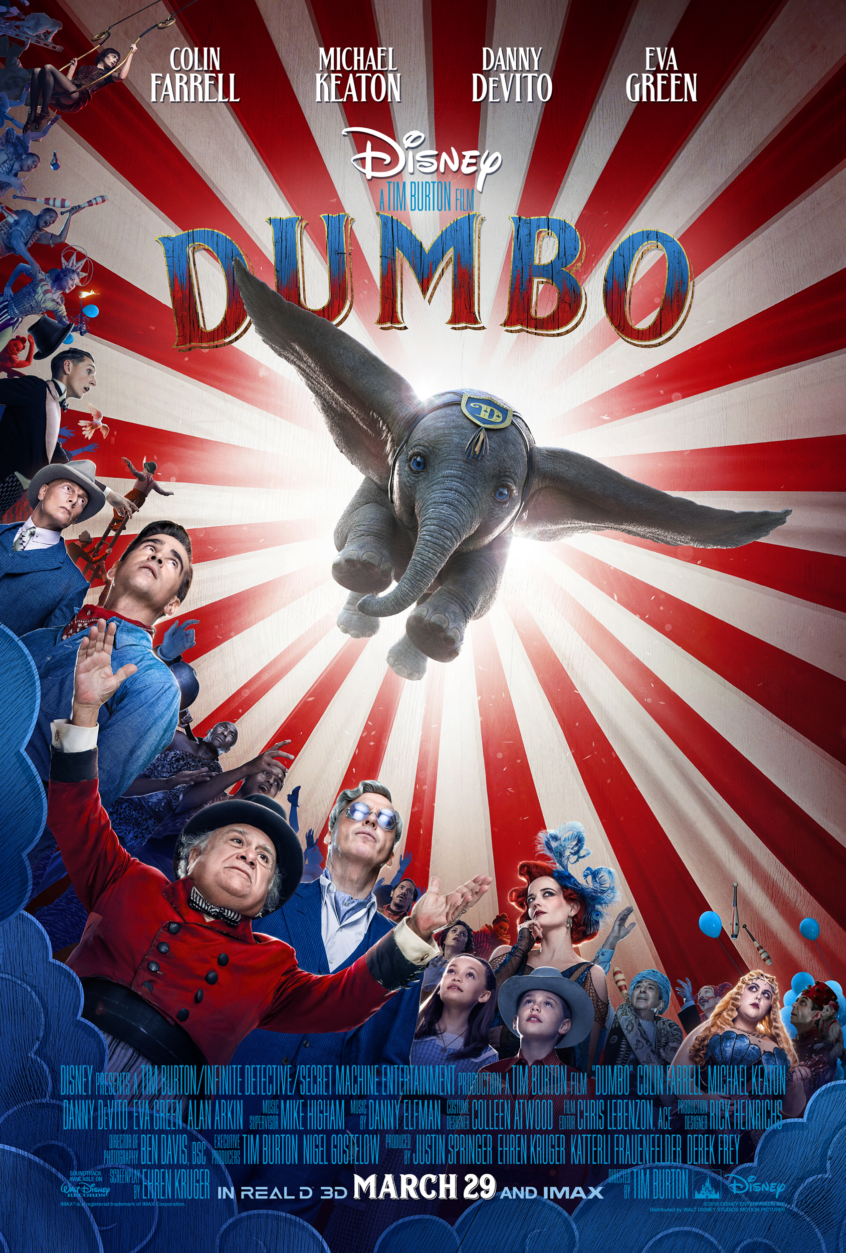 A live-action Dumbo film is on the list of Disney movies coming out in 2019!