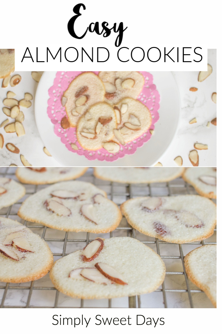 an easy recipe for almond cookies for Christmas or a party